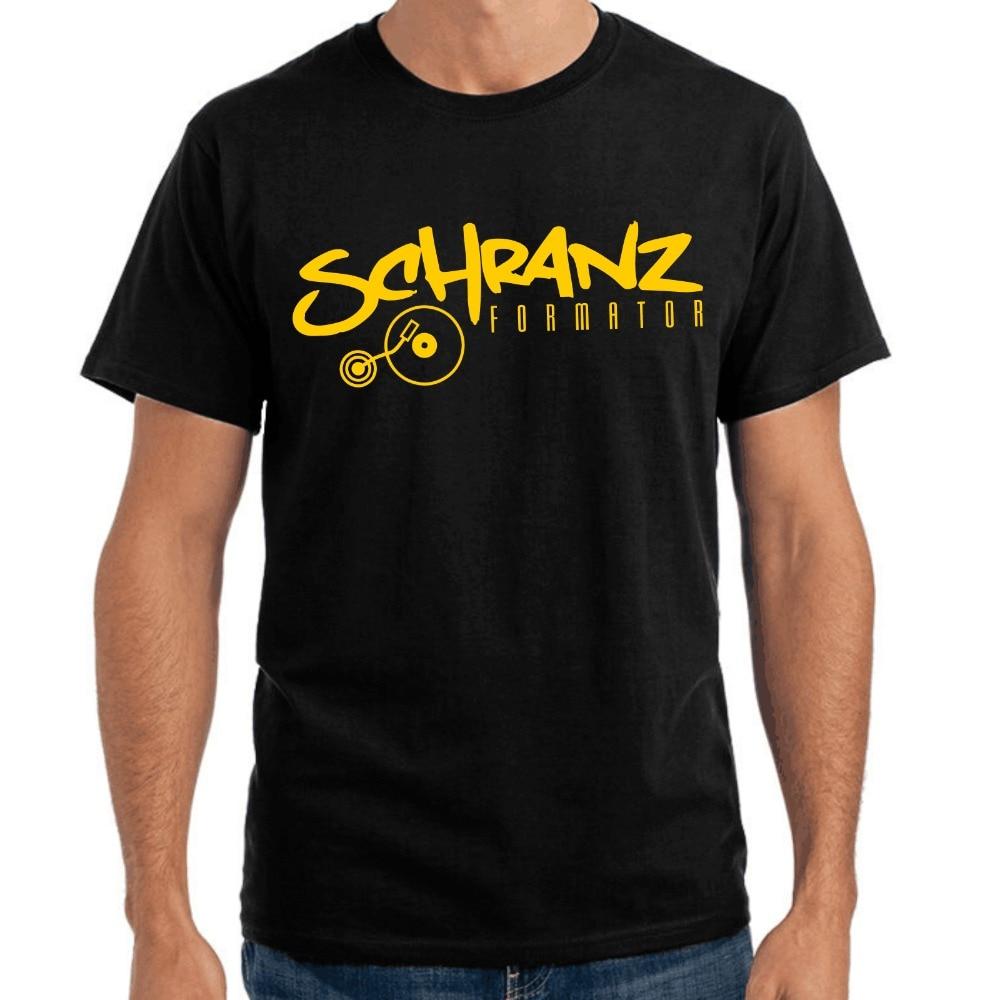 2018 New Arrivals Fashion Brand Clothing Summer hip hop fitness Schranz  Formator Club DJ Vinyl Schallplatte Music logo shirts-in T-Shirts from  Men's