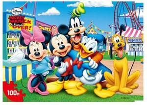 Image 3 - Disney Frozen Mickey Minnie Mouse Sofia Mermaid Duck Puzzle 100 Pieces Learning Educational Interesting Wooden Toys For Children