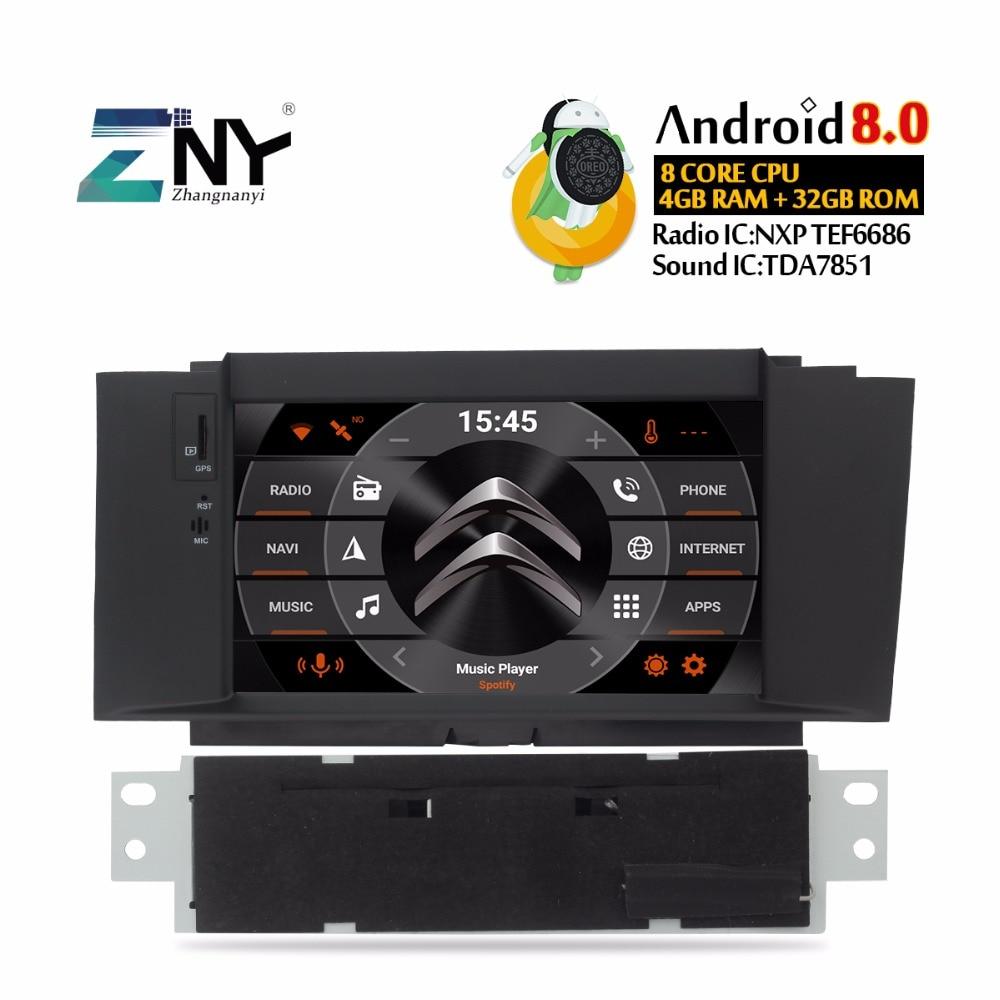 7 HD Android dvd de voiture auto-radio Pour Citroen C4 C4L 2011-2016 Multimédia Audio Vidéo FM RDS navigation gps Stéréo cadeau Caméra