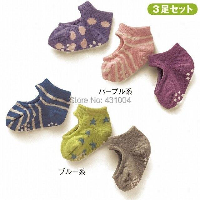 Baby boat socks Baby Cut socks Children socks Antiskid socks 3 pairs/lot цена
