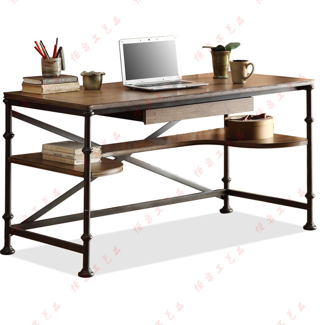 Wrought iron writing desk