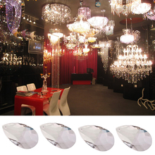 Прозрачная Хрустальная люстра в форме капли воды, кулон, многогранные бусины для свадебной вечеринки, Потолочная люстра, лампа, Декор