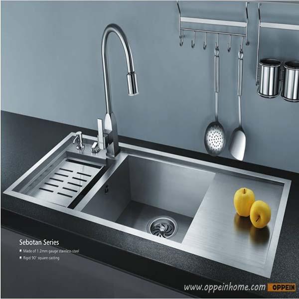 oppein stainless steel 18 gauge kitchen sink set with faucetsoap dispenserdrain board oppein stainless steel 18 gauge kitchen sink set with faucetsoap      rh   aliexpress com