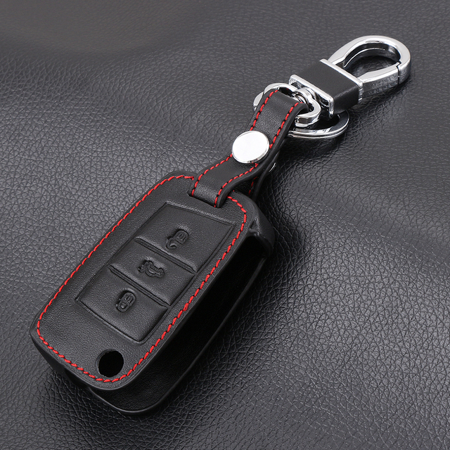 Leather Key Case Key Cover For Volkswagen VW Golf 7 GTI R