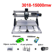 Diy Mini CNC Machine GRBL Wood Router cnc3018 15000mw Metal PCB Milling Machine Laser Engraving  CNC 3018 Engraving Machine diy mini cnc milling machine ly 4040 full aluminum pcb engraving for metal 3 4 axis wood router 1 5kw 2 2kw 3 5kw