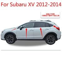 Yüksek kaliteli paslanmaz çelik şeritler araba pencere Trim dekorasyon aksesuarları araba styling 8 adet Subaru XV 2012 için 2013 2014