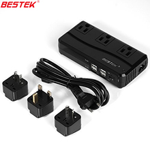 BESTEK International Travel Adapter Plug Set 220V To 110V Converter With 6A 4 USB Ports UK/AU/US/EU Travel Adapter Socket Power