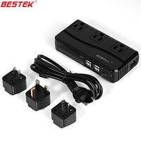 BESTEK International Travel Plug Adapter Set 220 V A 110 V Conversor Com 6A 4 Portas USB UK/AU/EUA/UE Adaptador de Tomada de Viagem