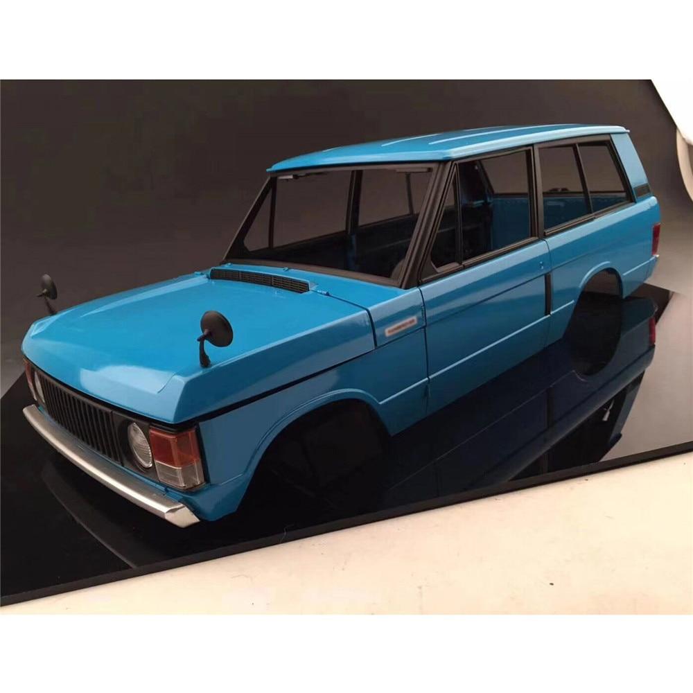 1/10 Escala Clássico Range Rover Shell Corpo Kit Conjunto Completo de windows, Electroplate Bumper, Maçaneta Da Porta, espelho retrovisor do Carro Do RC Parte