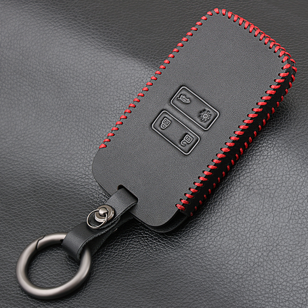 genuine leather car key card cover case fit for renault. Black Bedroom Furniture Sets. Home Design Ideas