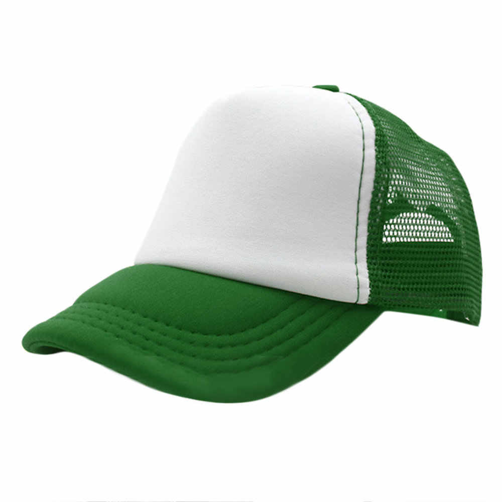 407b20a58e5 Summer Men Women Unisex Cap Plain Trucker Mesh Hat Snapback Blank Baseball  Outdoor Sunshade Cap Adjustable