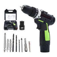 12 V wiertarka elektryczna akumulator litowy wkrętarka akumulatorowa śruba narzędzia elektryczne akumulatorowa wiertarka ręczna
