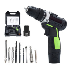 12V Electric Drill Rechargeable Lithium Battery Screwdriver Cordless Screw Gun Power Tools Hand