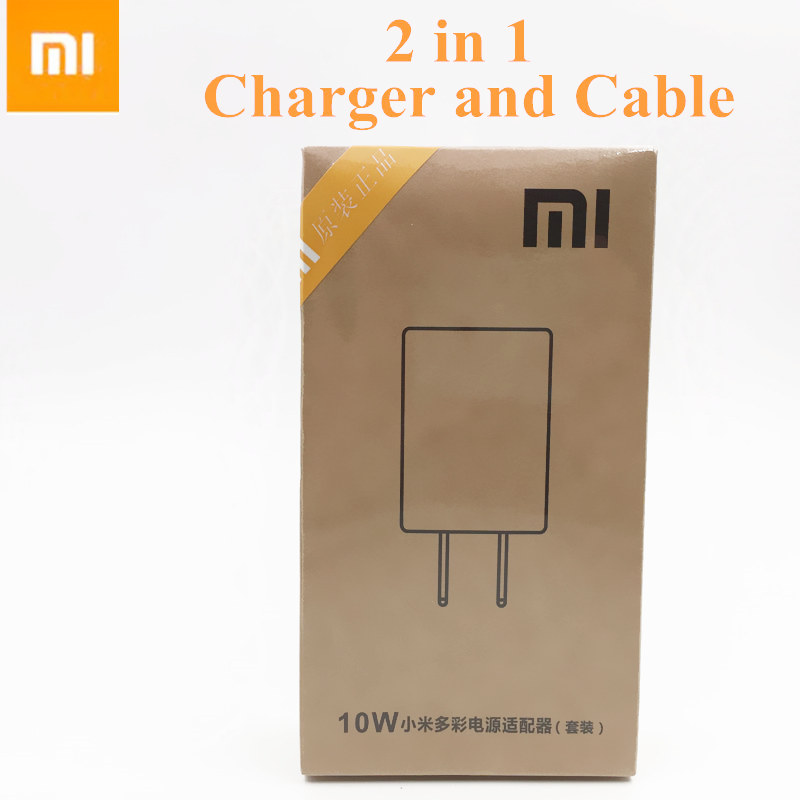 Original XIAOMI Charger For MI 3 4 note 1 2 3 4 4x redmi Mobile Phone 5V/2A USB Wall Charge Adapter and Data Cable