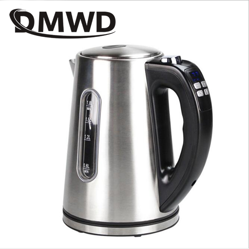 купить DMWD 1.8L Stainless Steel Electric Kettle Constant Temperature Control Thermal Insulation Teapot Hot Water Boiler Heating Pot EU
