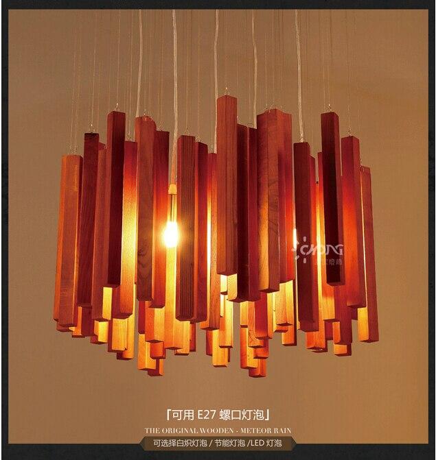 2015 ручной работы американского дерева метеоритный дождь подвесной светильник для гостиной столовой Бар Ресторан свет Dia40cm E27 dy-1351