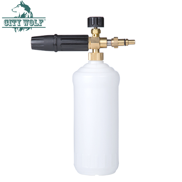 City Wolf high pressure washer snow foam lance soap bottle foam cannon for Nilfisk Kew Alto Huter car washers