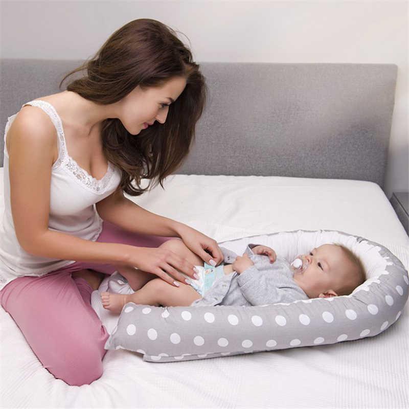 80*50cm nido de bebé cama de viaje portátil cuna infantil cuna de algodón para bebé recién nacido cuna parachoques
