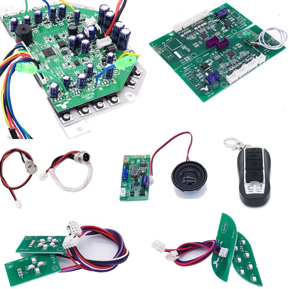 Carte mère Scooter avec Module Bluetooth haut-parleur contrôleur Rc pour Hoverboard 2 roues Balance intelligente Scooter électrique planche à roulettes