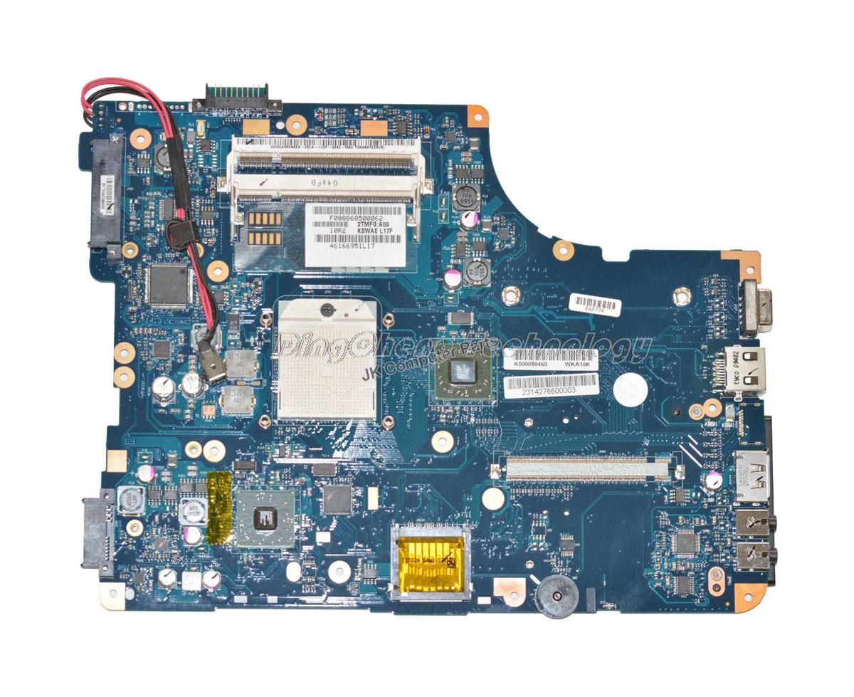 SHELI Laptop motherboard for toshiba L500 L500D K000080460 LA-4971P REV 1.0 integrated graphics card 100% TESTED GOOD original laptop motherboard for acer 5742 pew71 la 6582p mb r4l02 001 mbr4l02001 ddr3 integrated graphics card 100
