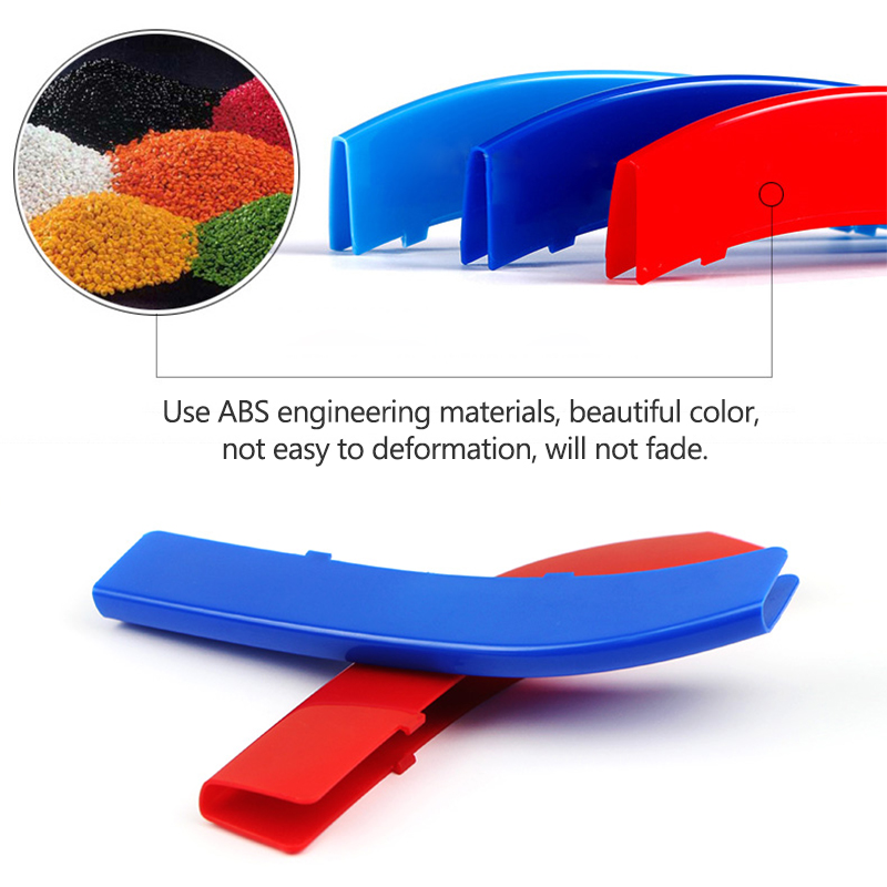 Image 4 - Atreus 3pcs For BMW 3 Series E46 E90 F30 F34 E92 E93 3 Series Motorsport Power M Performance Car Front Grille Trim Strips Cover-in Car Stickers from Automobiles & Motorcycles