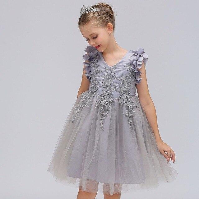 Summer Girls Tutu Birthday Dress Party Wedding Dress For Girls ...