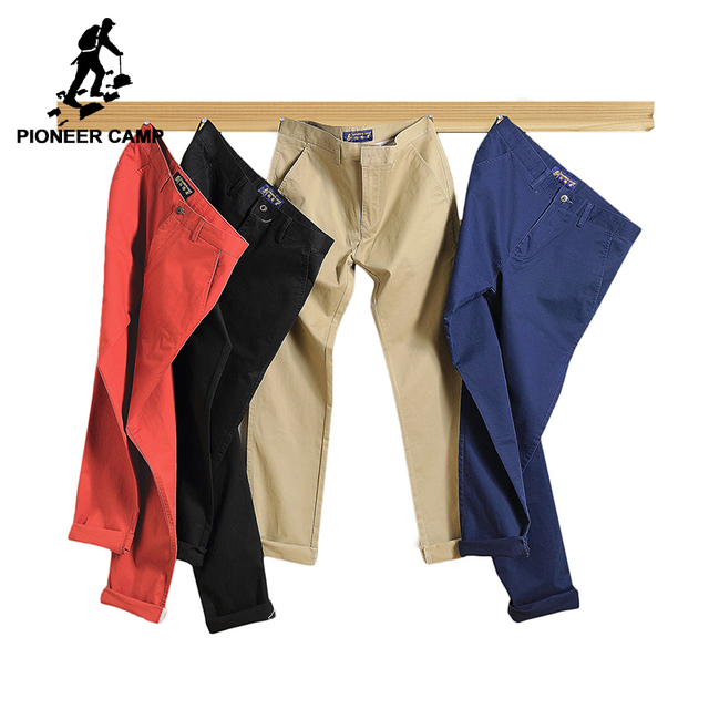 Pioneer Camp US Size 2019 Casual Pants Men Brand Clothing High Quality Autumn Long Khaki Pants Elastic Male Trousers 655110