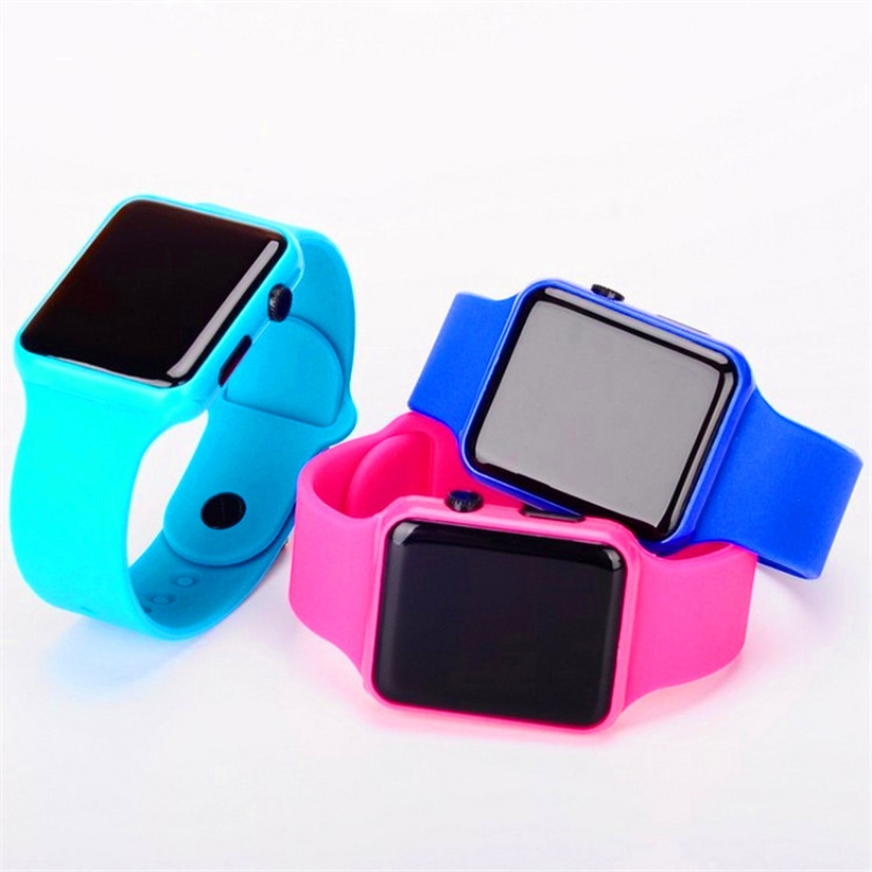 Fashion LED Watches Mens Sports Watch Electronic digital Clock Adult Couple Women Digital Plastic Square Student Watch Lady Gift in Women 39 s Watches from Watches