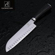 DAOMAOCHEN küchenmesser schneidmesser 7 zoll hohe qualität stahl kochmesser Japanischen messer farbe holz griff küche werkzeuge
