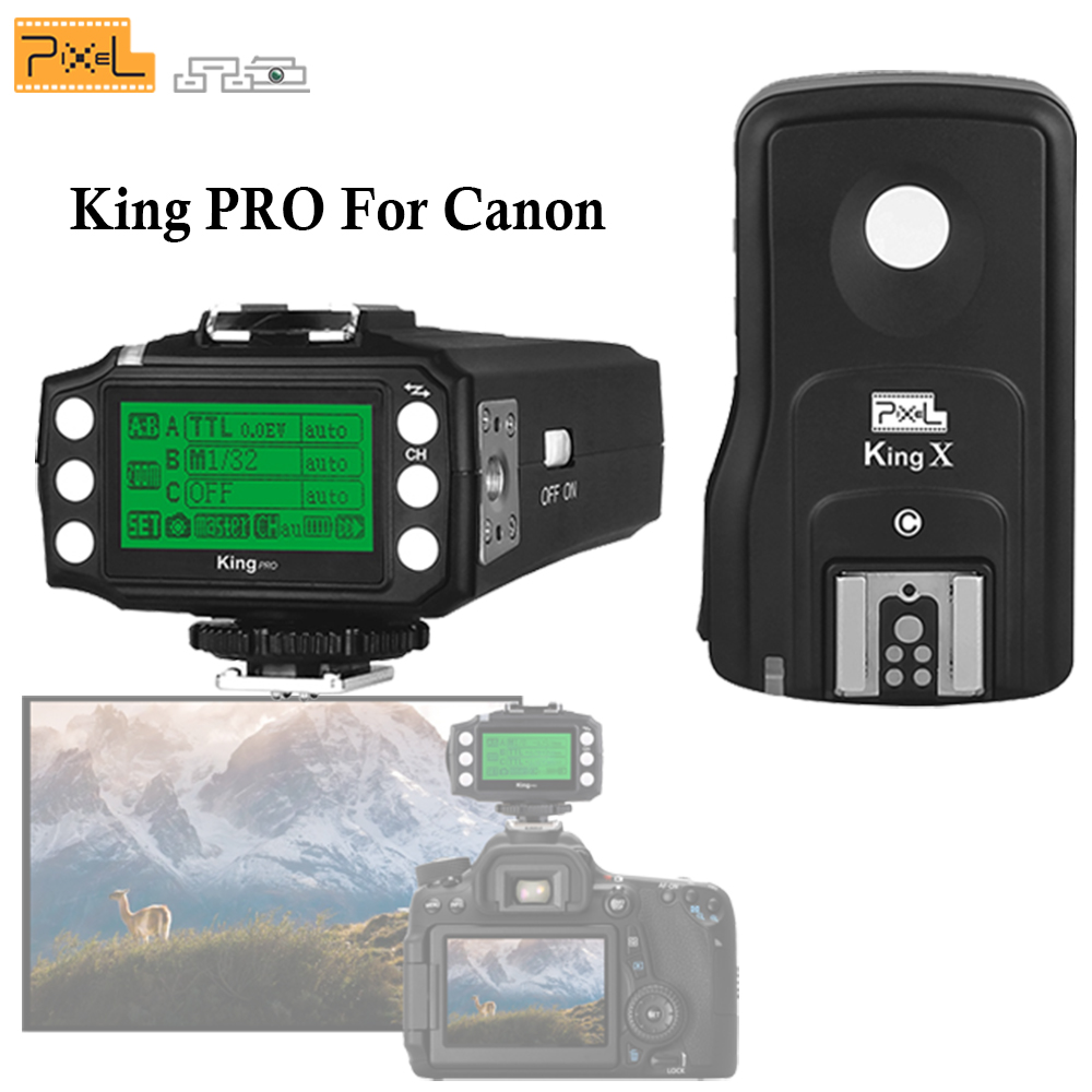 Pixel King Pro Wireless 2.4GHZ TTL HSS 1/8000S Shutter Flash Remote Control Flash Trigger For Canon 5D MarkIII Eos 6D 7D 50D 40D сандалии betsy 977817 01 04 оранжевый р 39 ru