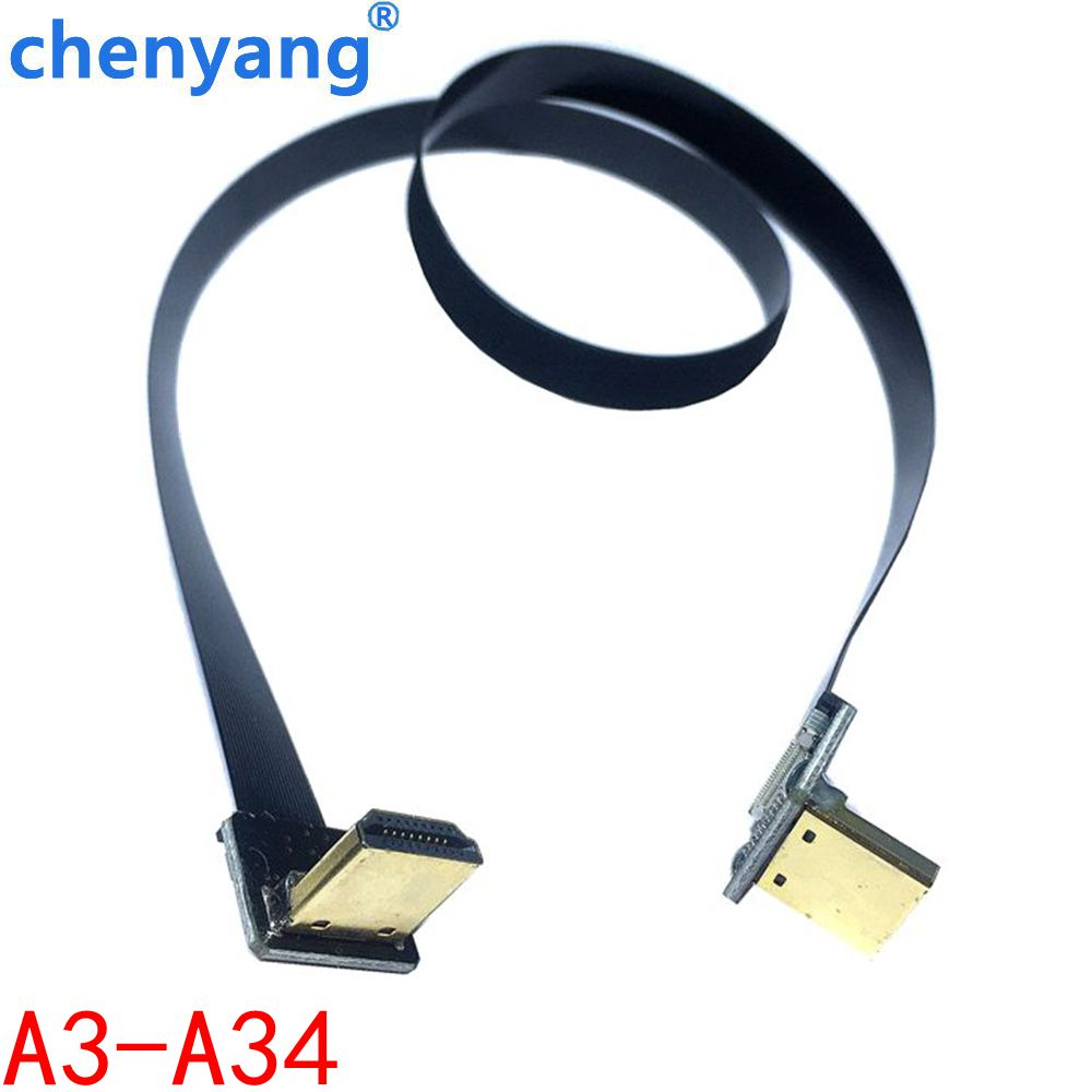 Multicopter Aerial PhotographyFPV A3-A34 D1234 FPC Ribbon Flat HDMI Cable Pitch 20pin for HDMI HDTV FPV FFC