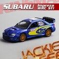 1 шт. 1:36 12.5 см нежный KINSMART Subaru WRC сольберг ралли автомобили моделирование модели автомобиля сплава украшения дома мальчик игрушка подарок
