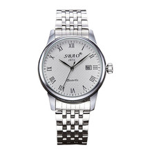 Waterproof Fashion Luxury Dress Unisex Lovers Men Women's Date Stainless Steel Band Analog Time Calendar Quartz Wrist Watch