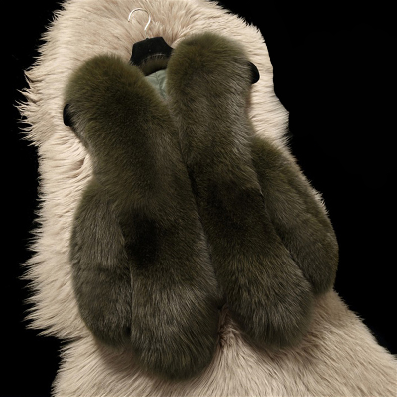 2018 Plus Größe 4XL Frauen Winter Faux Fuchs Pelz Pelz Ärmellose Weste Mantel Weibliche Warme Mode Gefälschte Kaninchen Fell Weste jacken X86