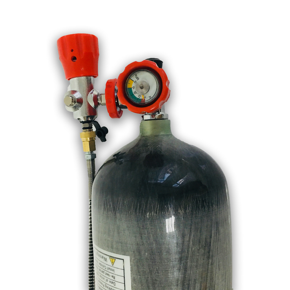 Russia Shippment HPA 6.8L PCP Air Tank Paintball Compressed Gas Carbon Fiber Cylinder With Valve And Filling Station