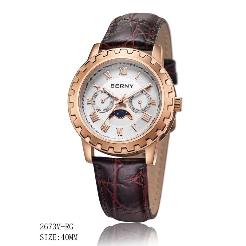 Berny Men Saat Kvars Mens Saatları Moda Ən Lüks Brend Relogio Saat - Kişi saatları - Fotoqrafiya 3