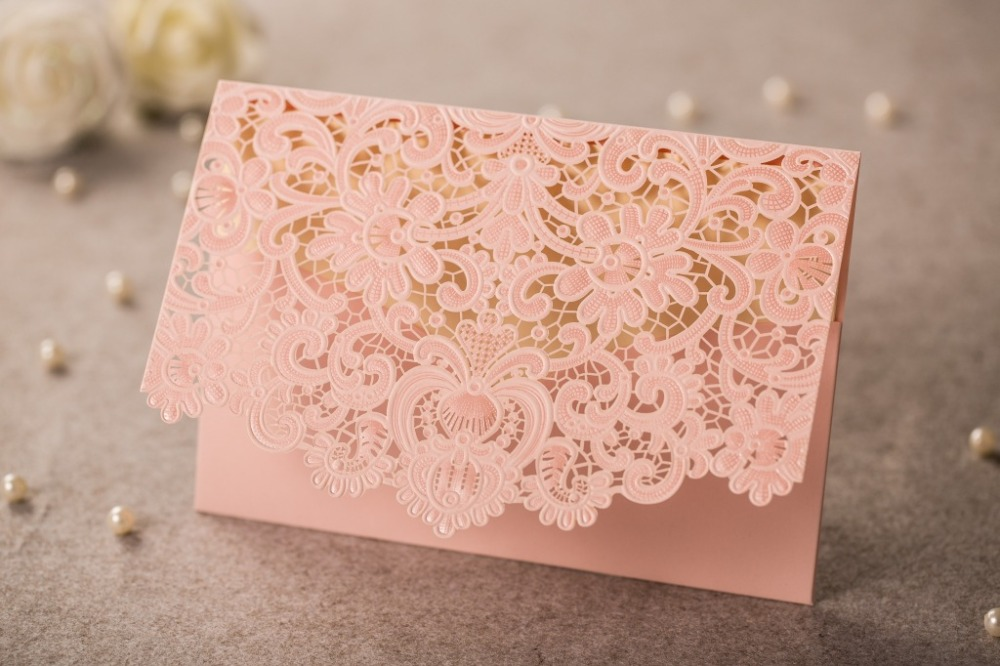 12pcs Delicate Carved Laser Cutting Wedding Invitation Card Embossed Flower Marriage Invitations In Cards From Home Garden On Aliexpress