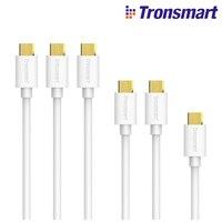 Tronsmart MUPP9 Premium 20AWG USB Cables 6 Pack White 1ft 1 3 3ft 2 6ft 3