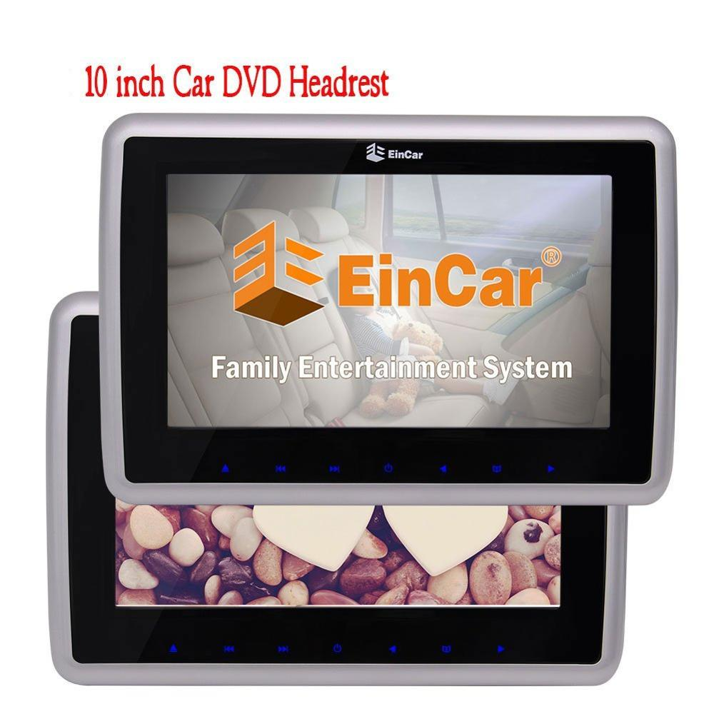 цена на 10'' Dual Screen DVD Players Digital Screen Twin Tablet-style Car Backseat Headrests 2 PCS DVD/CD Rear-seat Entertainment HDMI