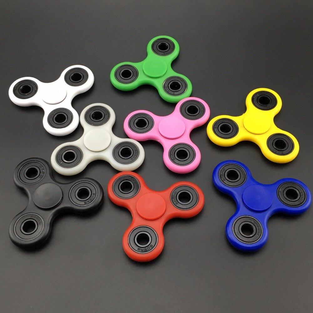 EDC руки Spinner Tri-блесны Непоседа Керамика мяч игрушка handspinner писака чулок для взрослых и детей Лидер продаж