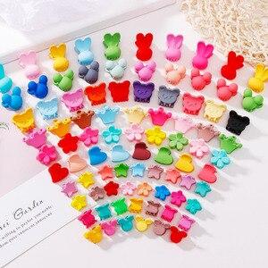 10Pcs/Lot Cute Girls Heart Flower Crown Animals Colorful Hair Claws Sweet Hairpins Hair Clips Headband Fashion Hair Accessories(China)