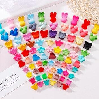 10Pcs/Lot Cute Girls Heart Flower Crown Animals Colorful Hair Claws Sweet Hairpins Hair Clips Headband Fashion Hair Accessories