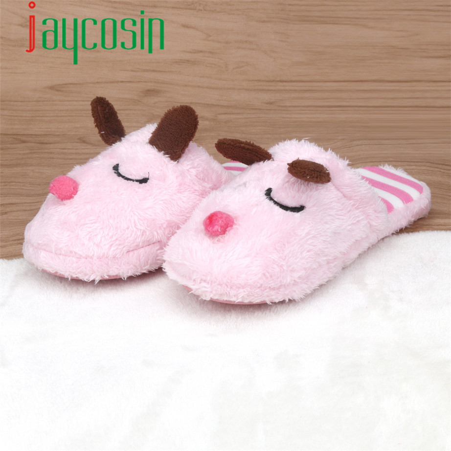 15 1PC Women Soft Dog Warm Indoor Bowknot Cotton Slippers Home Anti slip Shoes 38