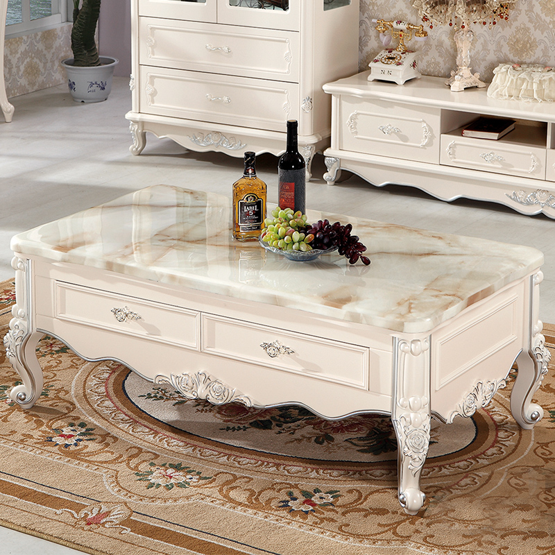Marble Coffee Table For Living Room: Continental Marble Coffee Table Small Apartment Tea TV