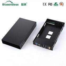 SATA USB 3.0 Hdd3.5 Wifi Extender/HDD Bay HDD Kandang Antarmuka SATA Aluminium NAS Enclosure RJ45 Wifi Router Repeater case HDD