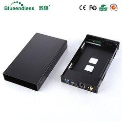 SATA USB 3.0 hdd3.5 موسع واي فاي/HDD خليج قالب أقراص صلبة SATA واجهة الألومنيوم Nas الضميمة RJ45 موزع إنترنت واي فاي مكرر HDD
