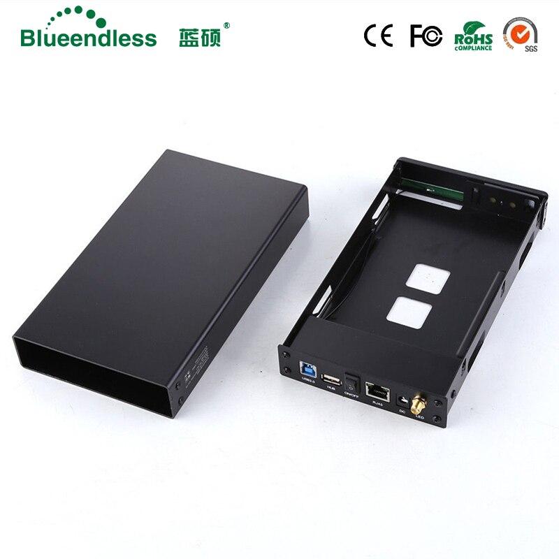 SATA USB 3.0 hdd3.5 prolongateur wifi/HDD Bay fermoir HDD SATA Interface En Aluminium boîtier Nas RJ45 routeur wifi Répéteur HDD Cas