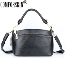COMFORSKIN Bolsa Feminina Large Capacity Travelling Shoulder Messenger Bags Luxurious 100% Genuine Leather Women Hobos Handbags