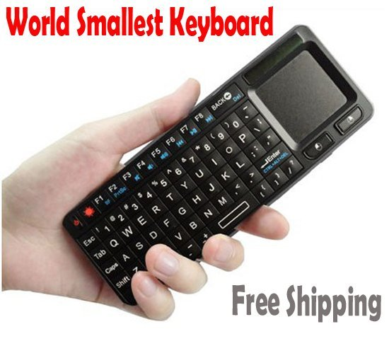 New gadgets! Slim wireless touch keyboard for pc&laptop, free shipping