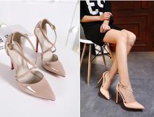 2017 Zapatos Mujer Tacon Thương Hiệu Giày Phụ Nữ Cao Gót Phụ Nữ Bơm Stiletto Thin Gót của Phụ Nữ Khỏa Thân Nhọn Toe Kích Thước 35-41